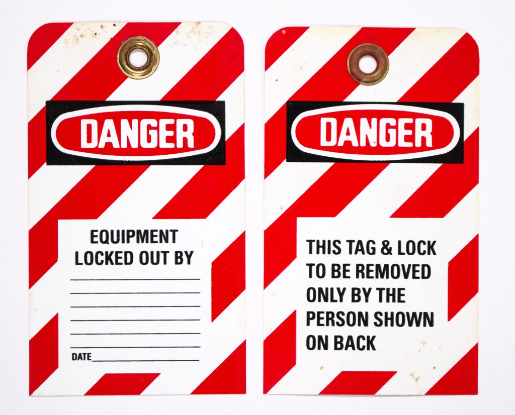 Lock-Out Tag-Out examples
