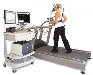 Metabolic cart from COSMED for measuring ergospirometry