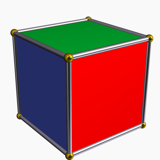 Face colored cube