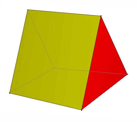 Triangular prism wedge