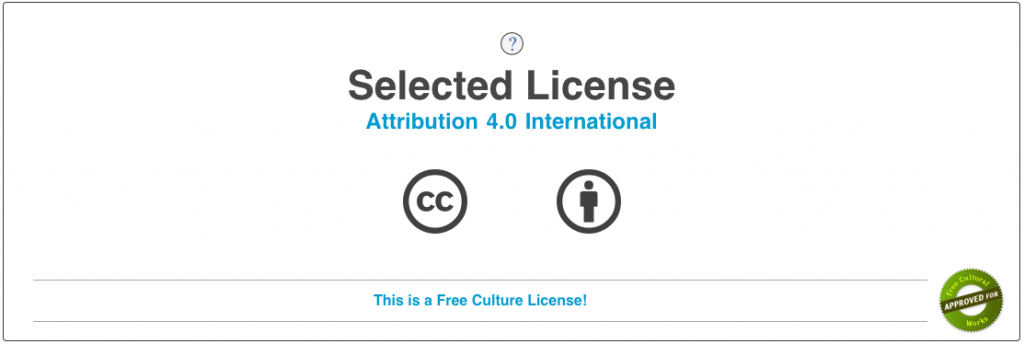 License selection in the chooser